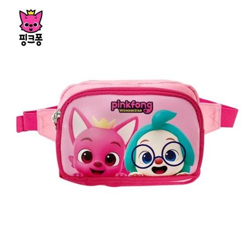핑크퐁 원더스타 포켓 힙색 아동 가방 크로스백 핑크