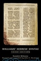 Williams Hebrew Syntax, 3d Ed.