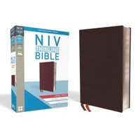 NIV: Thinline Bible, Large Print, Bonded Leather, Burgundy, Indexed, Red Letter Edition (Imitation Leather)