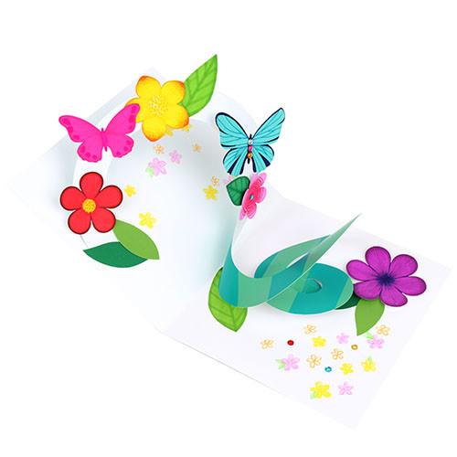 [만들기패키지] 파노라마 입체 꽃과 나비 (5개이상구매가능)