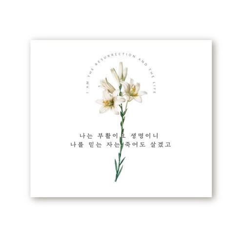 부활절 영상 배경 현수막 - 나는 부활이요 생명이니