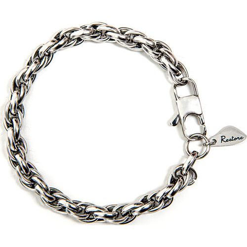 Silver Rope Chain Bracelet