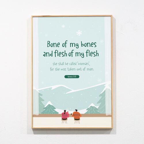 성경말씀액자 프레임-12 bone of my bones