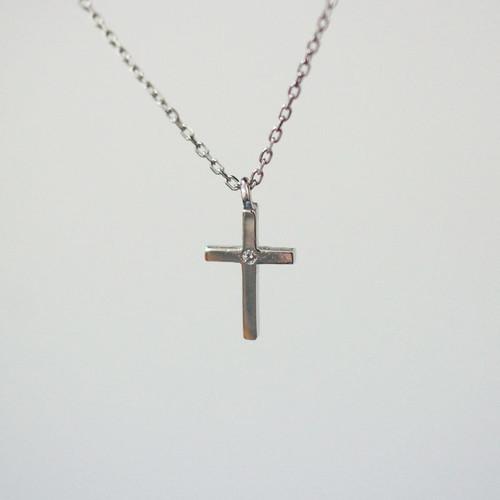 [십자가 목걸이] C-P161C(체인포함) / 실버