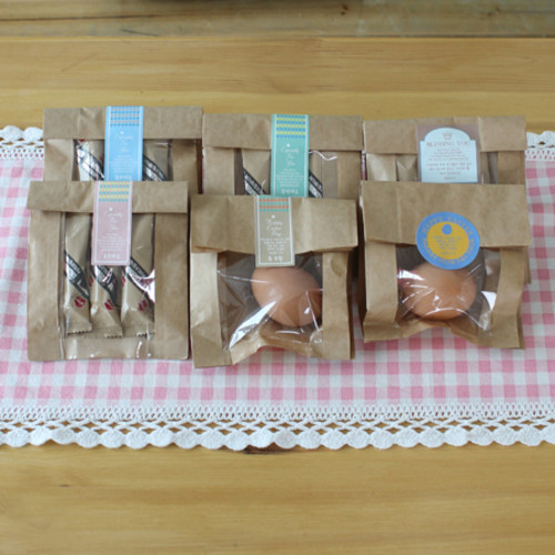 ver1.메세지스티커10개 투명창봉투10개-부활절포장(달걀2구)/소품/선물,전도,단체선물포장