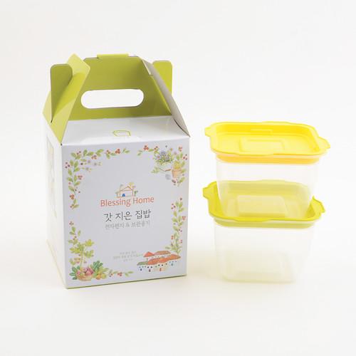 블레싱홈 갓 지은 집밥 2호(전자레인지&보관용기)