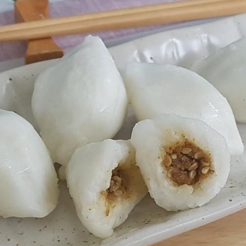 하늘생명교회 아산맑은에프엔비의 우리쌀 송편 (깨/1kg)
