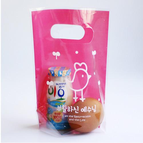 부활 비닐가방(20매입) - 19핑크