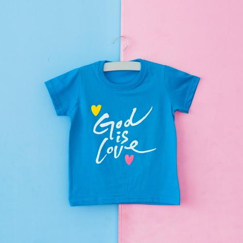 글로리월드 티셔츠 - 갓이즈러브 캘리(블루)