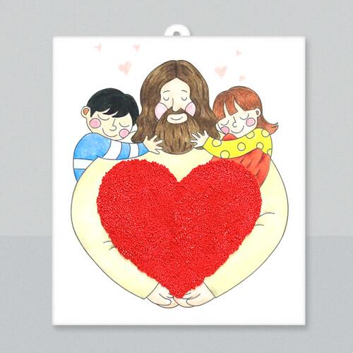 [아트공구50-3] 교회 예수님 사랑 종이액자 캔버스
