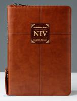 두란노 개정 NIV 영한성경 소 합본(색인/최고급신소재/지퍼/브라운)