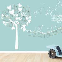 (뮤럴 벽지) love photo tree_요한복음 34:13