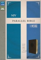 NIV, Message: Parallel Bible (Leathersoft, Brown)