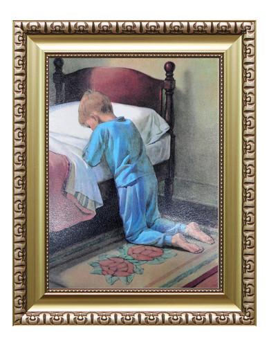 성화액자-8절 / 침대위에서 기도하는 소년