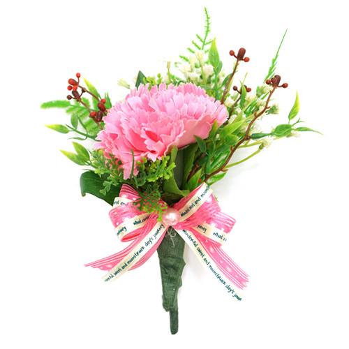 국내수작업 카네이션 코사지 21cm - 사랑4호 핑크