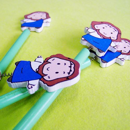 꼬마목동 예수님캐릭터 스프링 연필