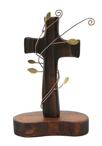 탁상용 나무십자가 (넝쿨)