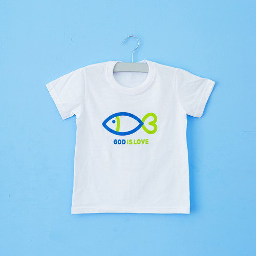 글로리월드 티셔츠 - 갓이즈러브 하트물고기