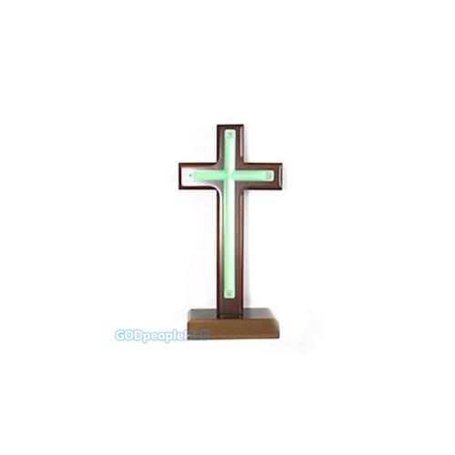 야광 원목 탁상 십자가 (5)