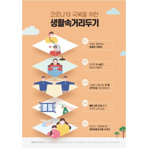 안전예방현수막(생활속거리두기)-090 (140 x 200)