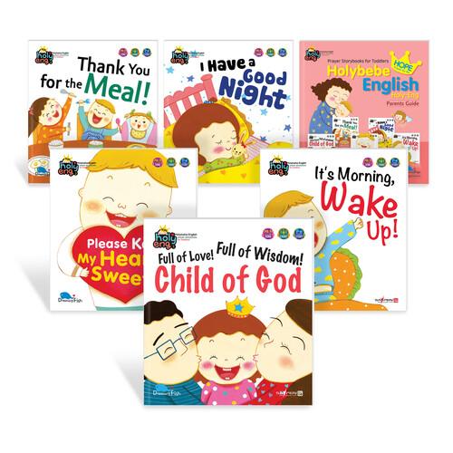 Holy-Eng HOPE 세트 (동화책 5권 가이드북 1권) - 홀리베베 소망 영어버전 (세이펜 활용가능/별매)