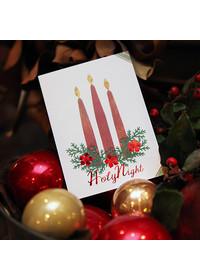 하베스터 크리스마스 카드 - 캔들 라이트