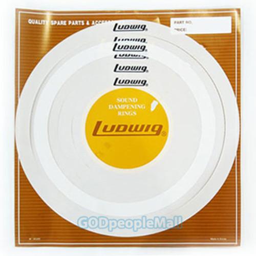 LUDWIG 뮤트링 6개 세트 LUDWIG-MRING