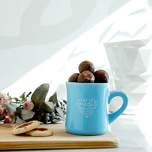 노아데코 컬러머그컵(씨블루_주와함께)