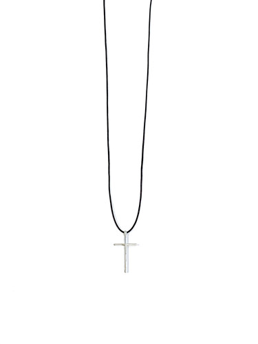 실버 십자가 목걸이