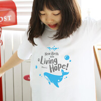 The Word 티셔츠_ Living Hope (고래)_아동용