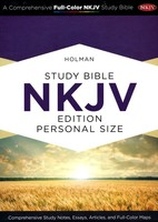 NKJV: Study Bible Personal Size, Purple with Brown Cork LeatherTouch  , Indexed (Imitation Leather)