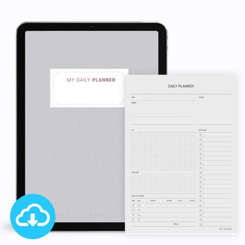 매일신앙생활 플래너 1 (가계부형) PDF 서식 by 마르지않는샘물 / 이메일발송 (파일)