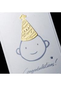 (18k금장 북마크+카드) 미니 생일모자 IM-1001 - 깜찍한 책갈피와 카드를 한번에!