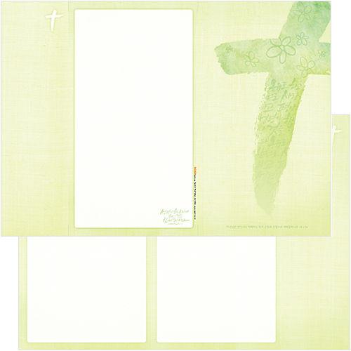 십자가주보 A4(날개형/양면) A4105S