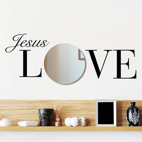 (거울 스티커)Jesus love
