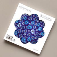 제이씨핸즈 이너플라워 손수건 06_Flower of Blue