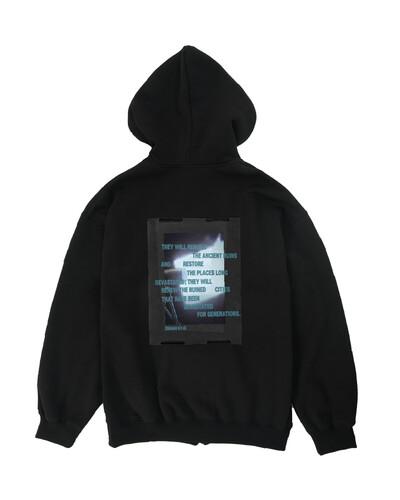 RE-IYL 기모 후드집업 (black)