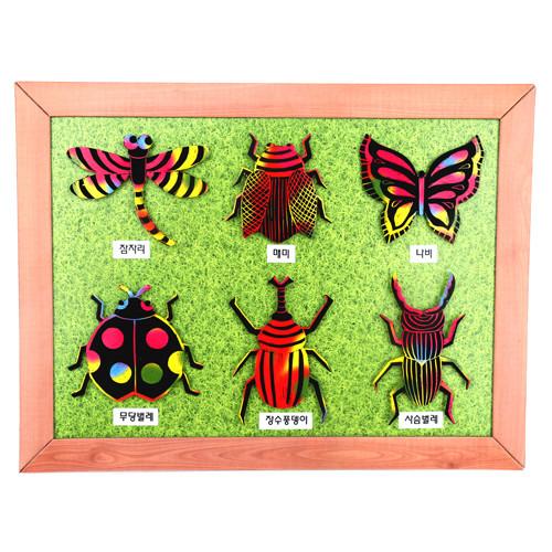 [만들기패키지] 스크래치 곤충도감액자 (5개이상구매가능)