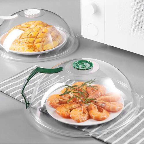 손잡이 달린 전자렌지 사용 음식물 덮개 커버